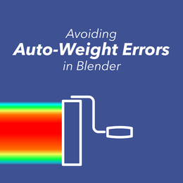 Avoiding WeightPaint Errors in Blender