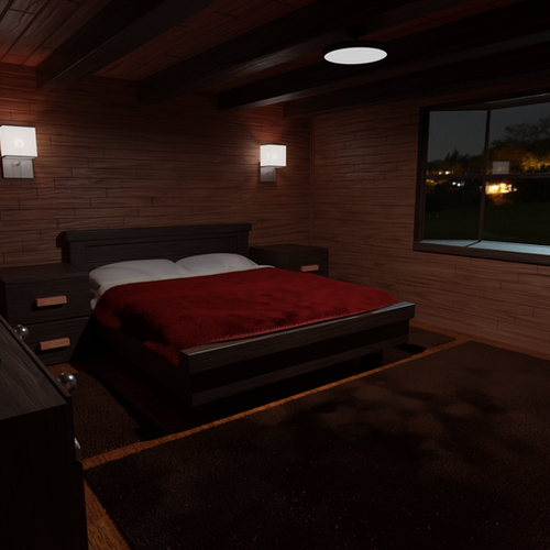 Thumbnail image for Cabin Bedroom (Cycles and Eevee)