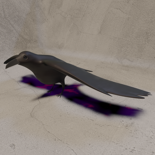 Thumbnail image for Low Poly Crow