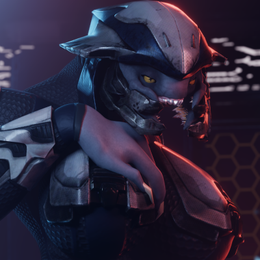 Halo Sangheili w/ Techsuit and Armor