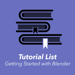 Blender Video Tutorial and Resources List