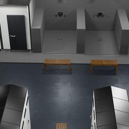 Lab Shower/Locker Scene