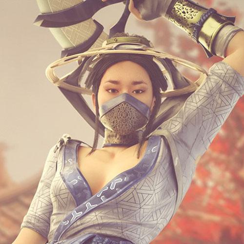 Thumbnail image for Kitana MK11 Nude - Blender 3.0