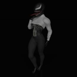 She Venom+Female armature(Not Rigify)
