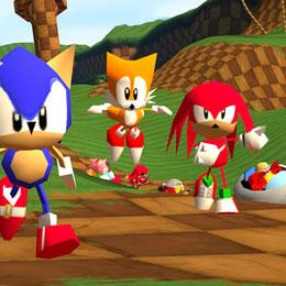 (pillow and Sond) Sonic R + sonds