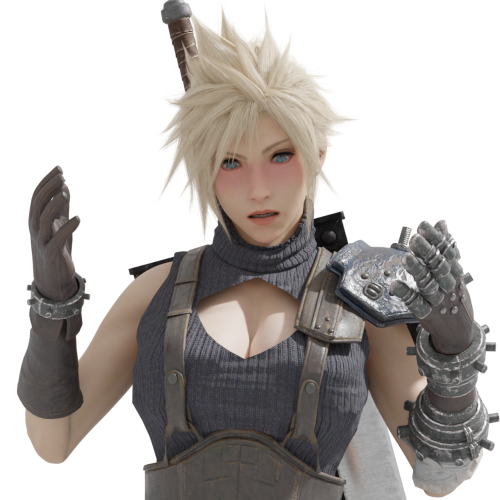 Thumbnail image for Cloud Strife (rule 63)