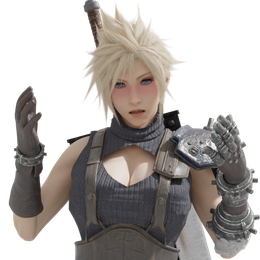 Cloud Strife (rule 63)