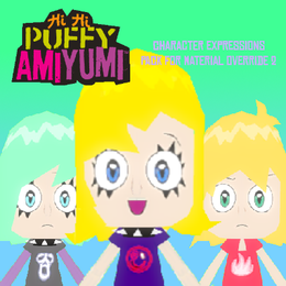 Hi Hi Puffy AmiYumi: Character Expressions Pack for Material Override 2