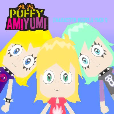 Thumbnail image for Hi Hi Puffy AmiYumi: Character Models Pack 2