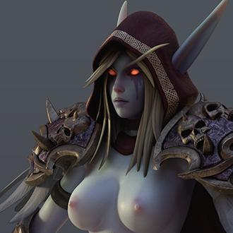 Thumbnail image for [WoW] Sylvanas for Cinema 4d r19