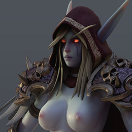 [WoW] Sylvanas for Cinema 4d r19