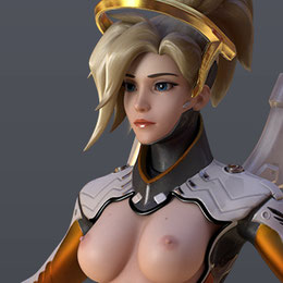 [Overwatch] Mercy for Cinema 4d r19