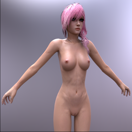 Final Fantasy XIII | Lightning [Nude, Blender]