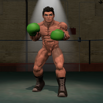 Thumbnail image for Nude Little Mac (Super smash bros. Brawl)