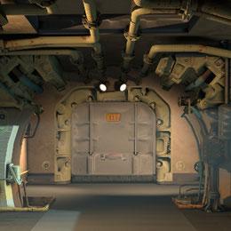 Vault 111 Hallway scenebuilding props