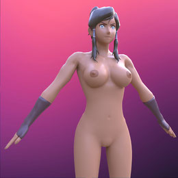 Legend of Korra   Korra  [Nude, Blender]