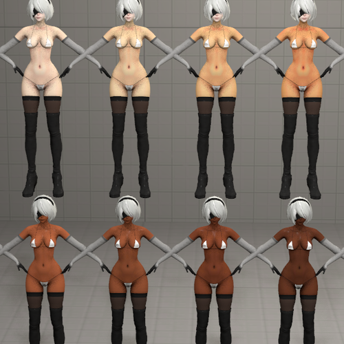Thumbnail image for New Flavors of 2B [Textures for YoRHa 2B V2]