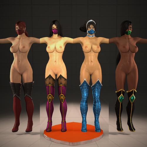 Thumbnail image for MK9 Girls Headhack on Daz4 fantasy body (Session)