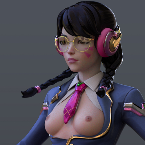 Thumbnail image for [Overwatch] Dva academy for Cinema 4D r20 [ Redshift 3.0.08 ]