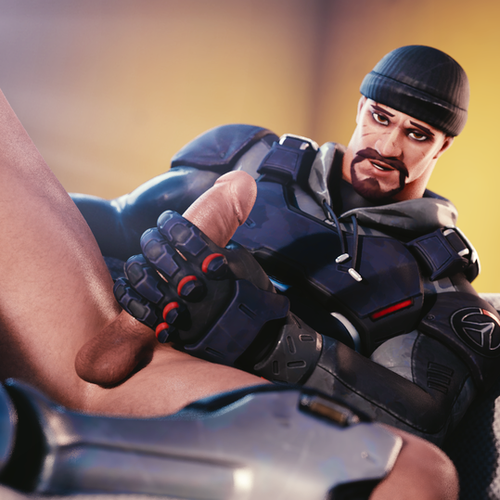 Thumbnail image for [Overwatch] Lewd Blackwatch Reyes for Blender