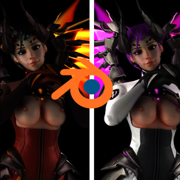 [Blender 2.79] Imp/Devil Mercy Model