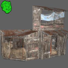 Thumbnail image for Wooden Settlement Scene Build Kit for SFM [Fallout 4]