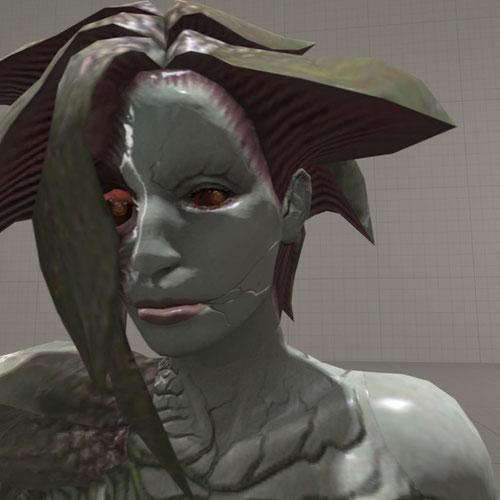 Thumbnail image for Resident Evil - Alexia Ashford mutated.