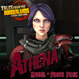 Tales from the Borderlands - Athena Model & Props Pack