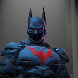 Batman (Arkham Knight - Batman Beyond skin)
