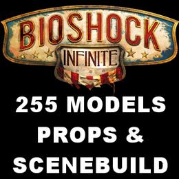 Bioshock Infinite Props & Scenebuilding Pack - 255 Models