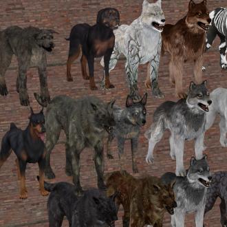 Thumbnail image for Dog Pack [10 models, 29 total skins]