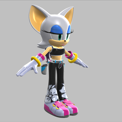 Thumbnail image for [PMX/MMD] Rouge the Bat, Tokyo 2020