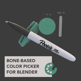 NSFW Bone-Based Color Picker for Blender 2.8