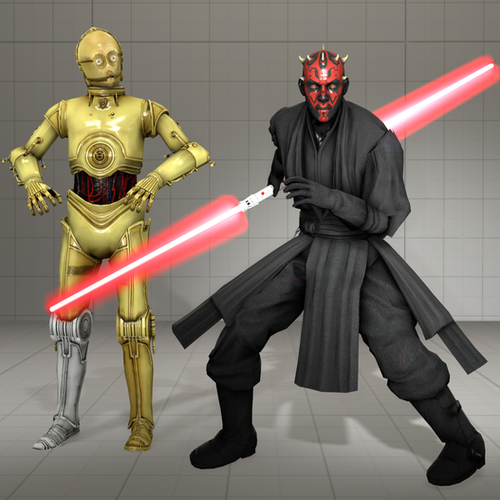 Thumbnail image for Star Wars - Dart Maul, C3PO and lightsabers