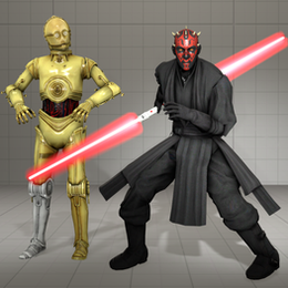 Star Wars - Dart Maul, C3PO and lightsabers