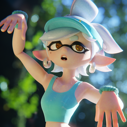 Thumbnail image for Marie, Blender 2.79 and 2.8