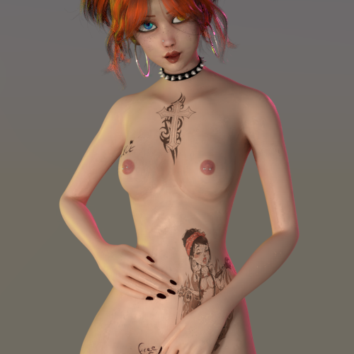 Thumbnail image for Ginny Character ( rigged ) BLENDER