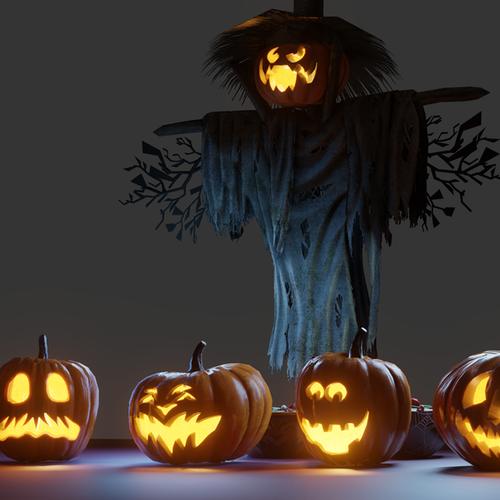 Thumbnail image for Halloween Props Set 2.80 + Eevee