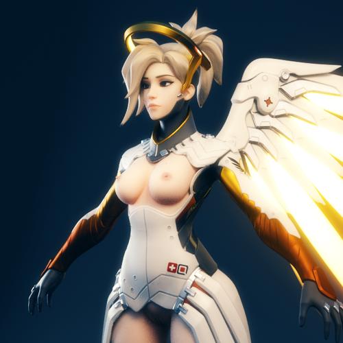 Thumbnail image for [Overwatch] Ellowas's Lewd Mercy for Blender