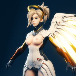 [Overwatch] Ellowas's Lewd Mercy for Blender