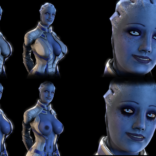 Thumbnail image for Unzipped Liara T'Soni (Large Breasts Version)
