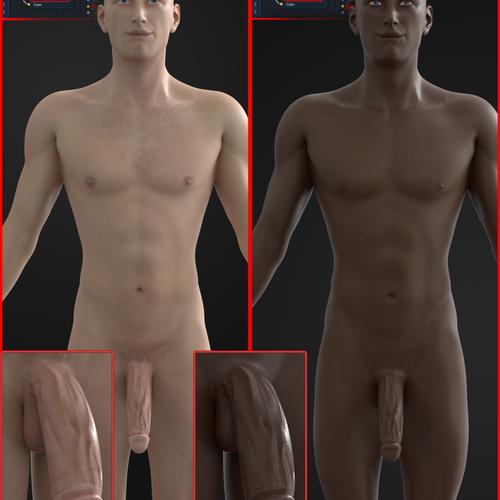 Thumbnail image for Male Model - Black / White