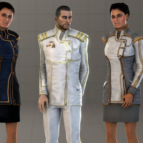 Thumbnail image for Commander Shepard & Ashley Williams - Formal Attire