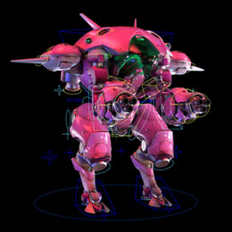 D.Va's Mech for Maya