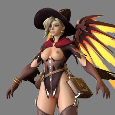 Thumbnail image for Mercy Witch - FBX