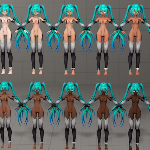 Thumbnail image for New Flavors of Miku [Textures for Miku Hatsune - Vocaloid]