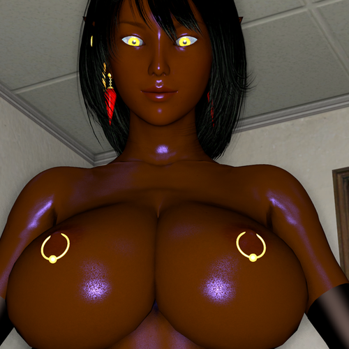 Thumbnail image for Queen Nualia, With Brown skin, Black Hair and clothes
