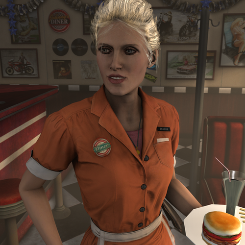 Thumbnail image for Waitress (Batman Arkham Knight)