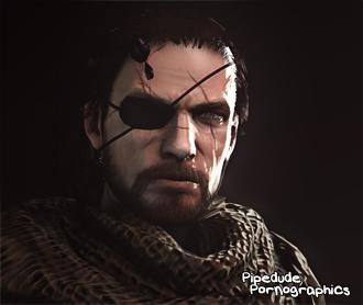 Thumbnail image for [Metal Gear Solid] Snake (aka Big Boss) nude