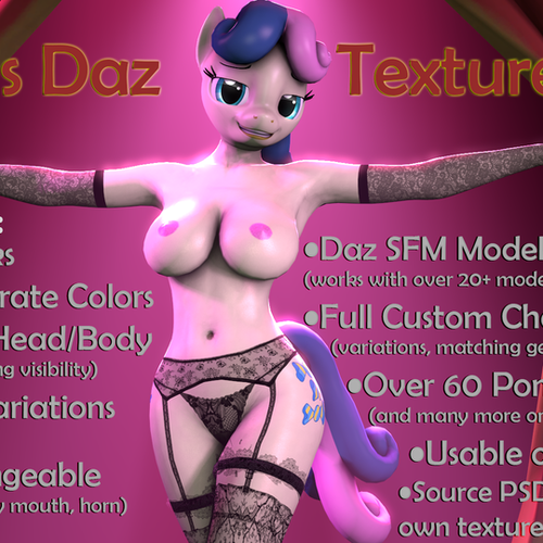 Thumbnail image for Red's MLP Daz Texture Pack